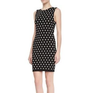 alice + olivia Marta Polka Dot Fitted Dress, L
